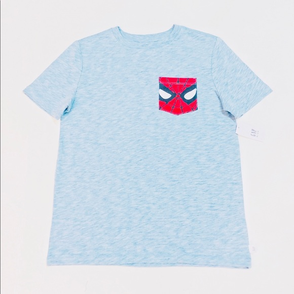 Size 7 Blue and Red kids Spiderman T-Shirt